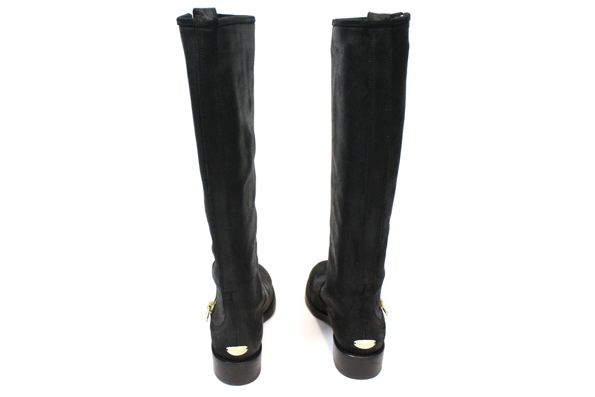 Jimmy Choo Suede 'Doreen' Zip Knee-High Flat Boots (Size 35) - Encore Consignment - 3