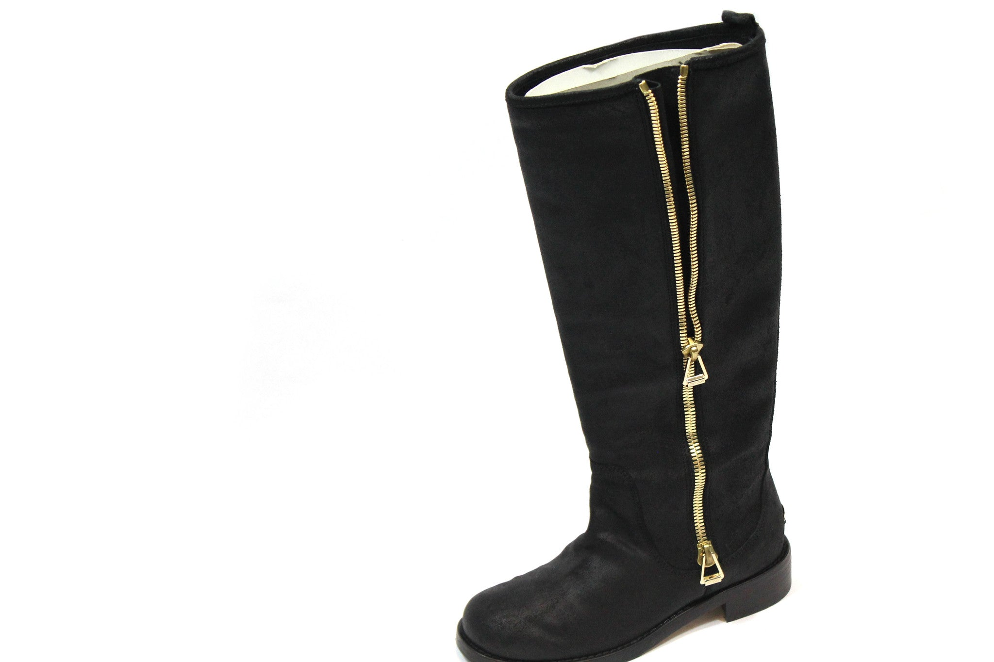 Jimmy Choo Suede 'Doreen' Zip Knee-High Flat Boots (Size 35) - Encore Consignment - 4