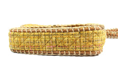 Chanel Quilted Yellow Tweed Shoulder Bag - Encore Consignment - 11