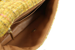 Chanel Quilted Yellow Tweed Shoulder Bag - Encore Consignment - 7