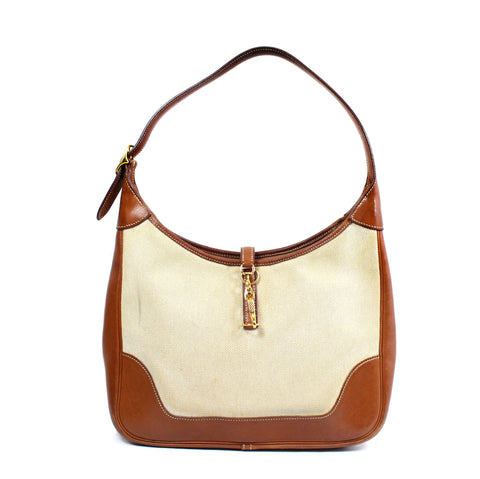 Hermes Beige Canvas 'Trim II 31' Shoulder Bag