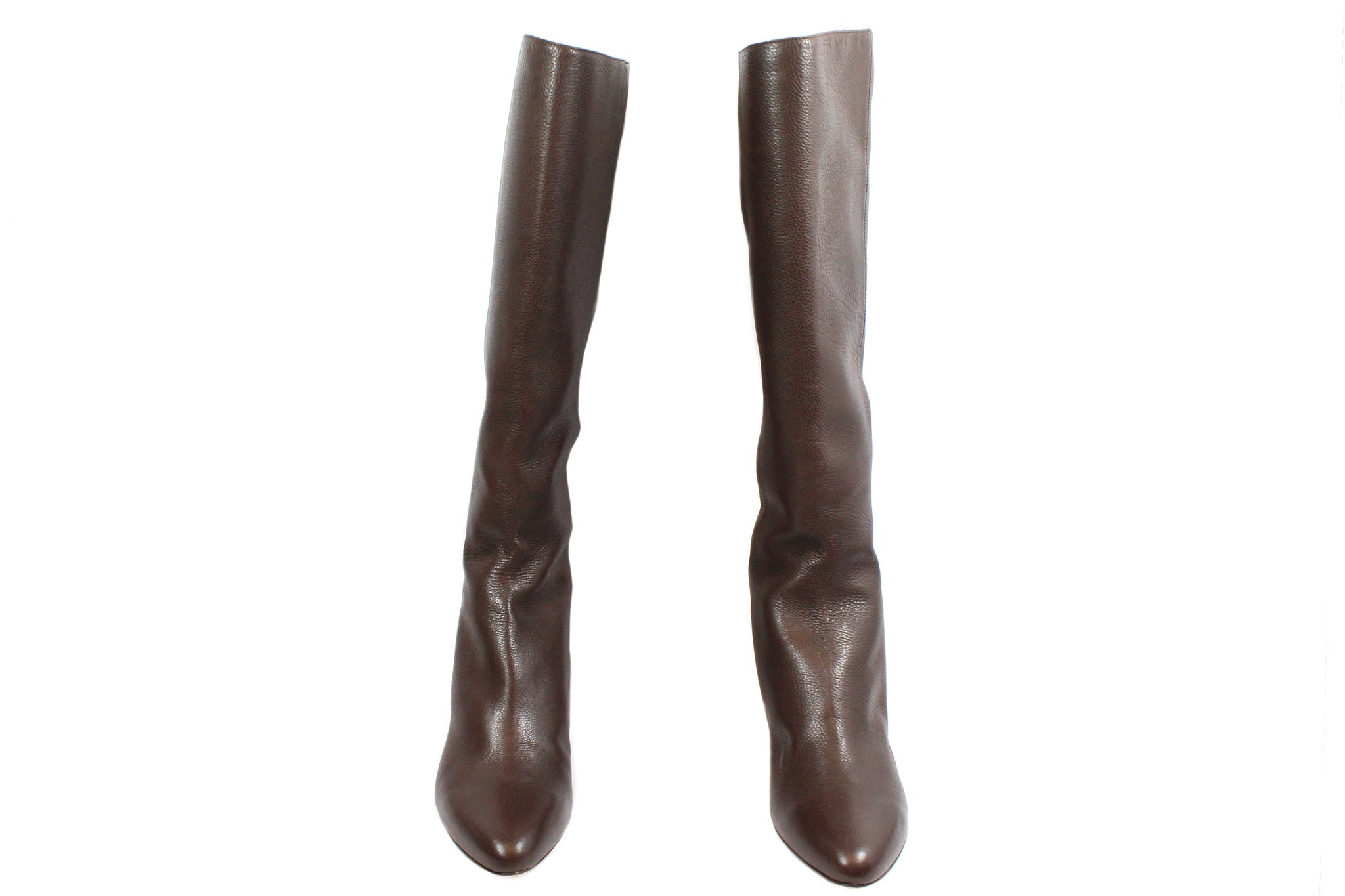 Jimmy Choo Brown Leather Boots (Size 37) - Encore Consignment - 2