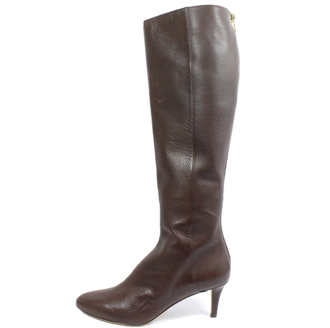 Jimmy Choo Brown Leather Boots (Size 37) - Encore Consignment - 1