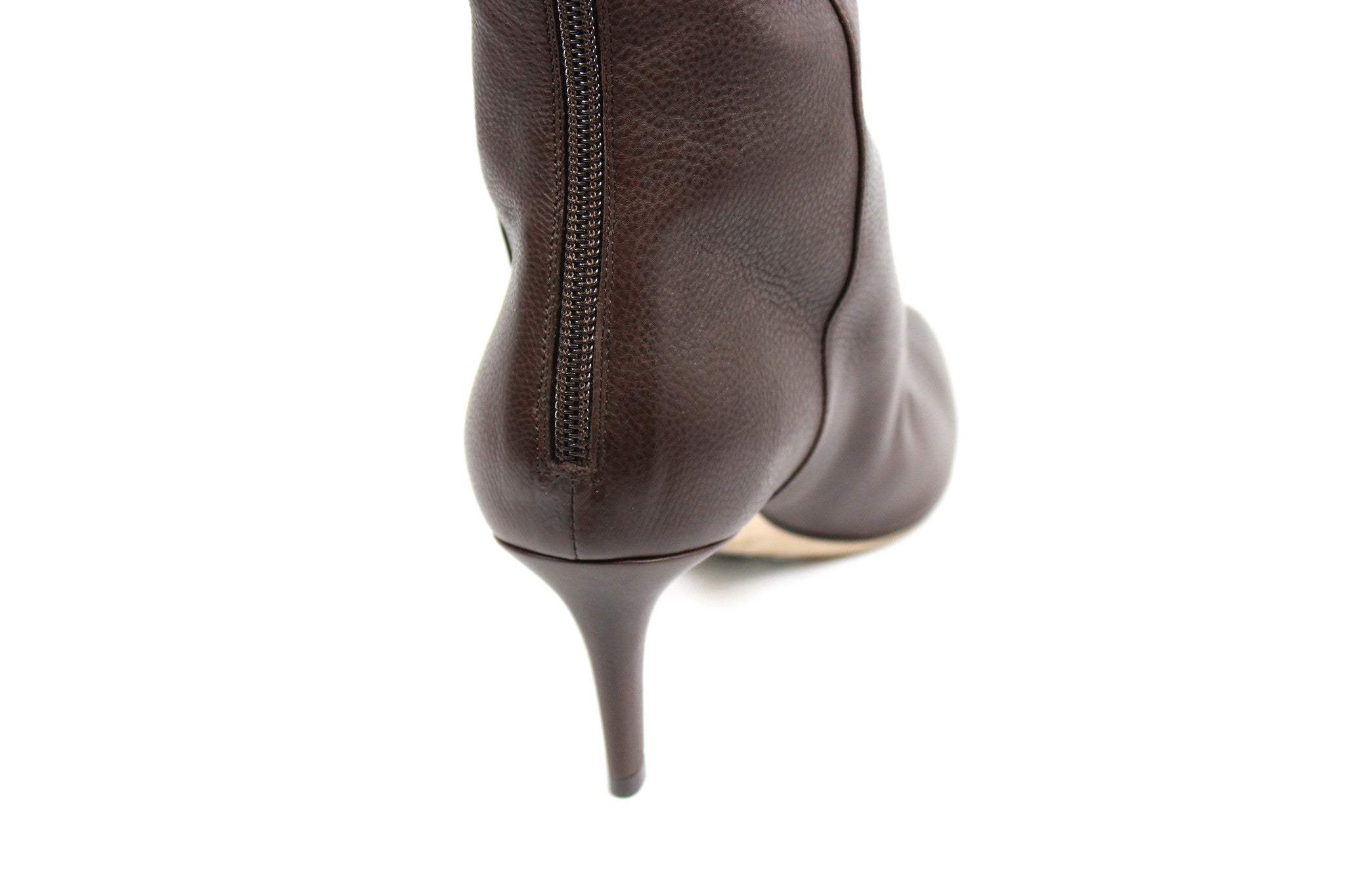 Jimmy Choo Brown Leather Boots (Size 37) - Encore Consignment - 6