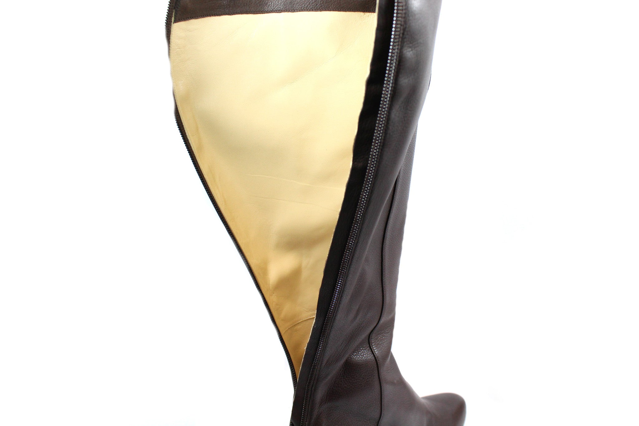 443a9133f35 Jimmy Choo Brown Leather Boots (Size 37) - Encore Consignment - 7