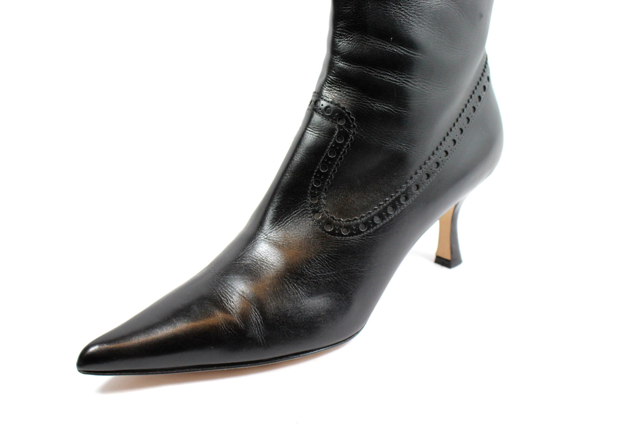 Michael Kors Perforated Leather Ankle Boots (Size 11) - Encore Consignment - 8