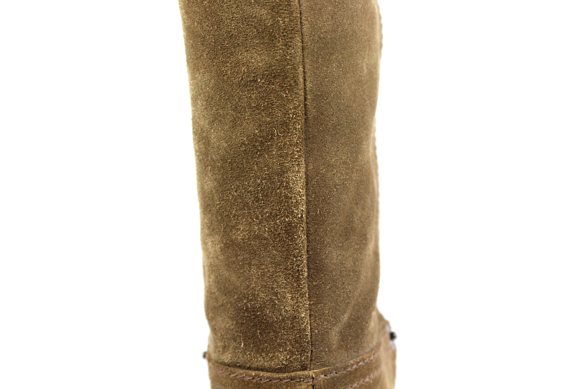 Prada Suede Taupe Wedge Boots (Size 38) - Encore Consignment - 9