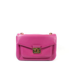 Fendi Cyclamen Pink Leather Logo Buckle 'Be Baguette' Bag - Encore Consignment - 9