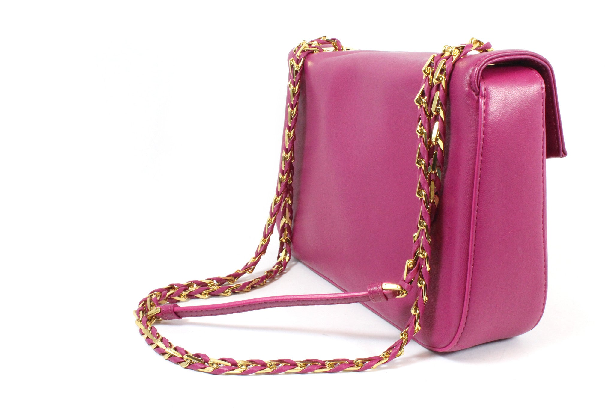 Fendi Cyclamen Pink Leather Logo Buckle 'Be Baguette' Bag - Encore Consignment - 1