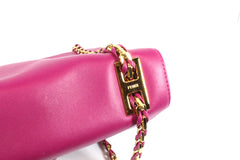 Fendi Cyclamen Pink Leather Logo Buckle 'Be Baguette' Bag - Encore Consignment - 5