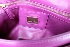 Fendi Cyclamen Pink Leather Logo Buckle 'Be Baguette' Bag - Encore Consignment - 7