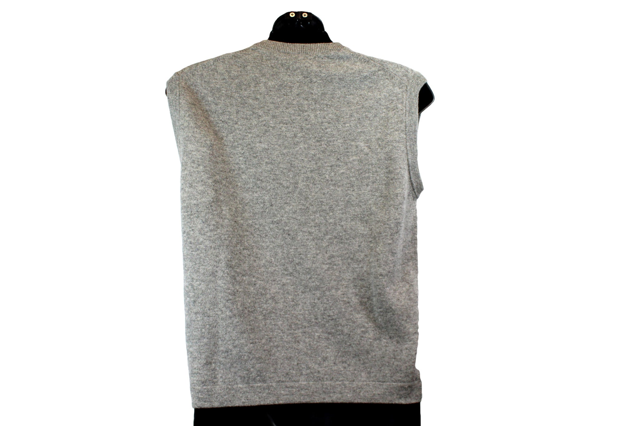 Hermes Grey Cashmere  Sleeveless Crewneck Sweater (Size L) - Encore Consignment - 4