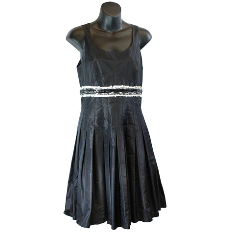 Chanel Sleeveless Dress w/ Pleats and Embellishments (Size 38) - Encore Consignment - 1