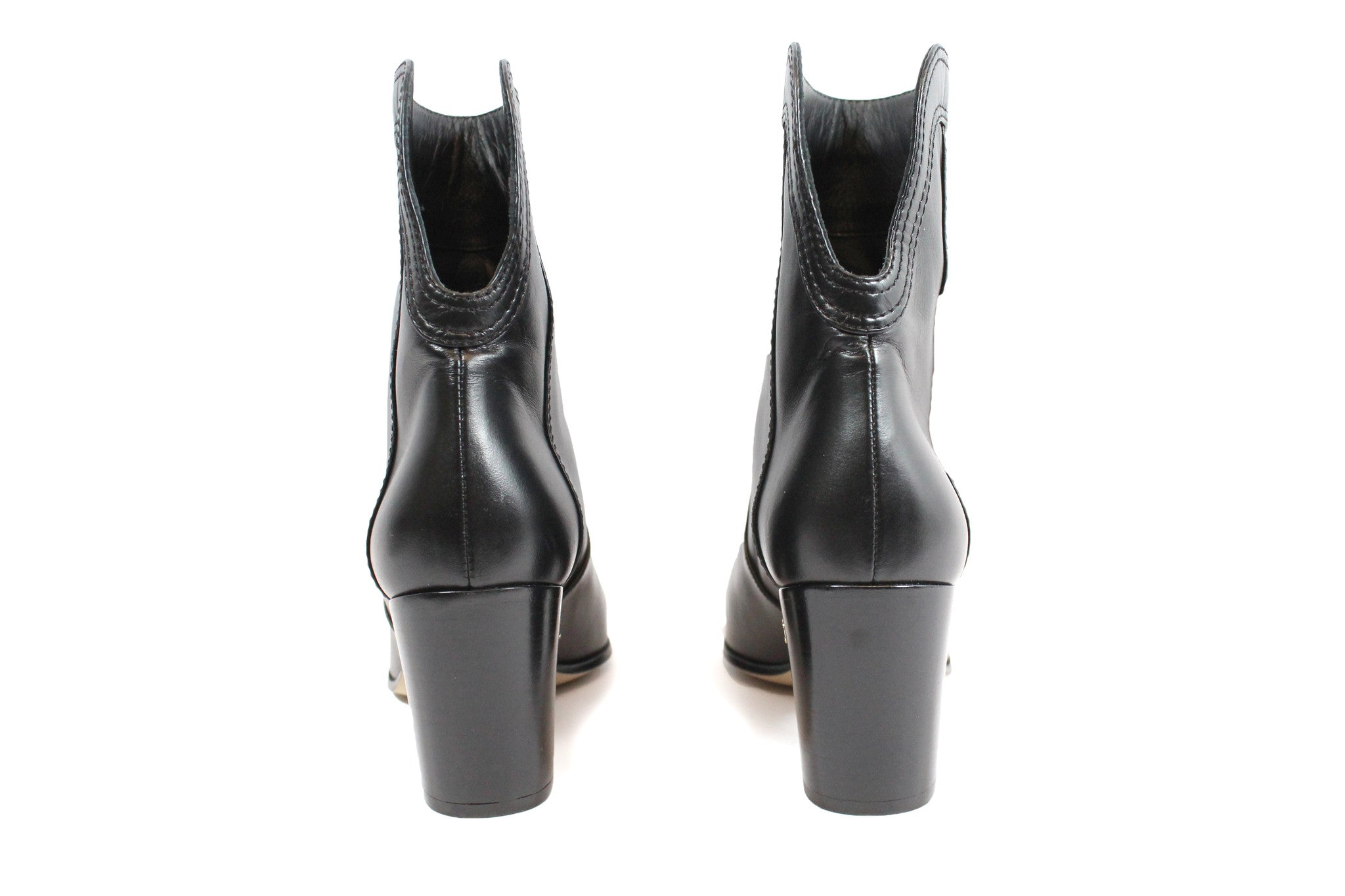 Chanel Calfskin Ankle Boots (Size 38) - Encore Consignment - 4