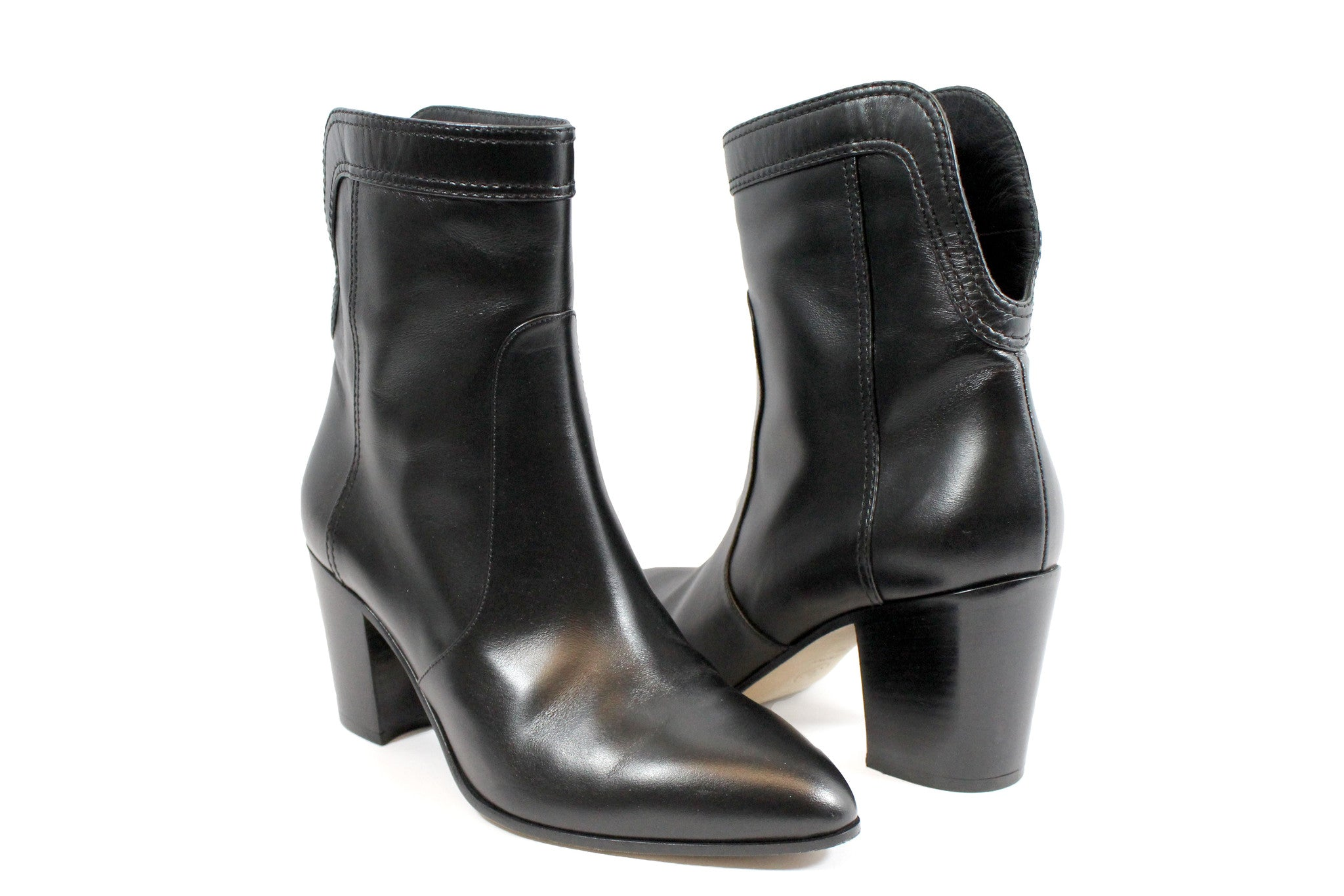Chanel Calfskin Ankle Boots (Size 38) - Encore Consignment - 2