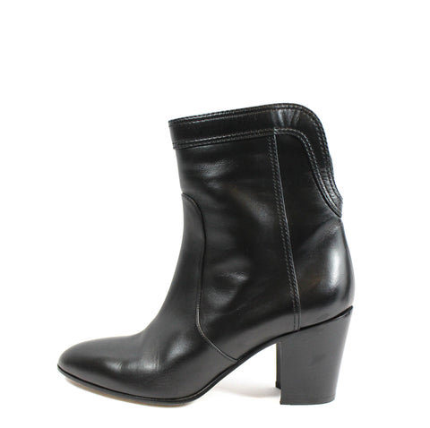 Chanel Calfskin Ankle Boots (Size 38) - Encore Consignment - 1