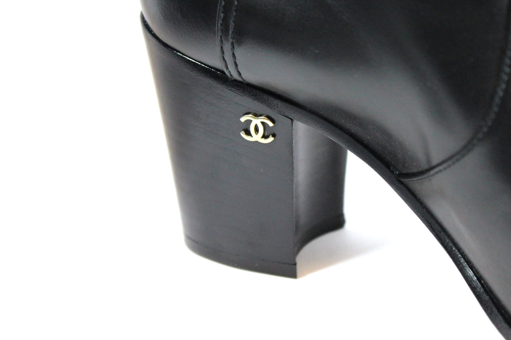 Chanel Calfskin Ankle Boots (Size 38) - Encore Consignment - 6