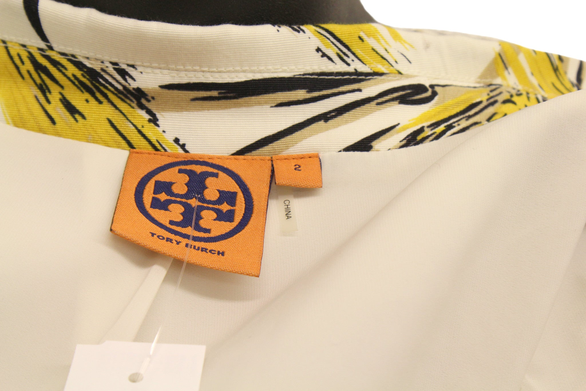 Tory Burch Yellow Wheat 'Rimon' Printed Jacket (Size 2) - Encore Consignment - 5