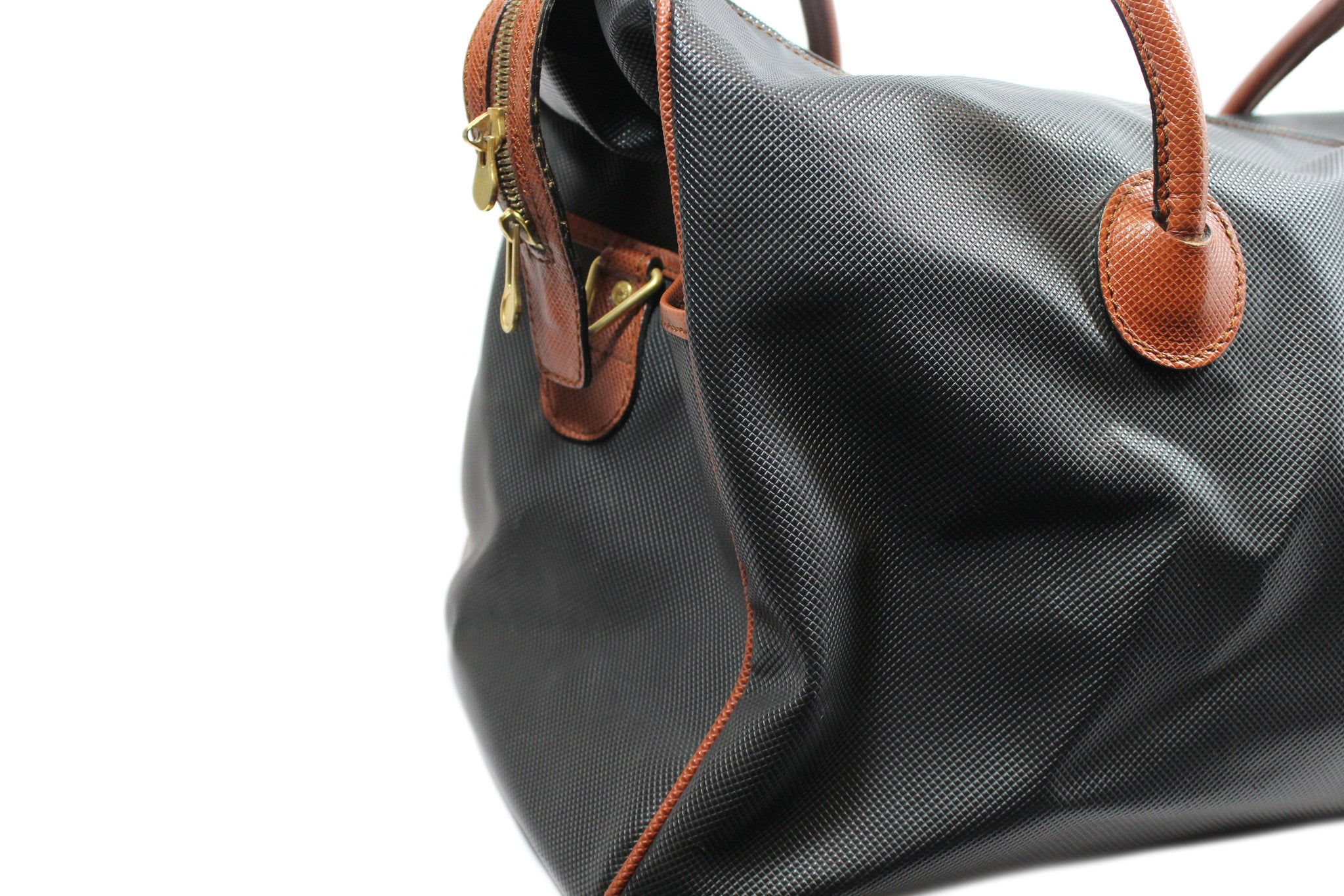 Bottega Veneta Black and Copper Leather Duffle Bag - Encore Consignment - 3