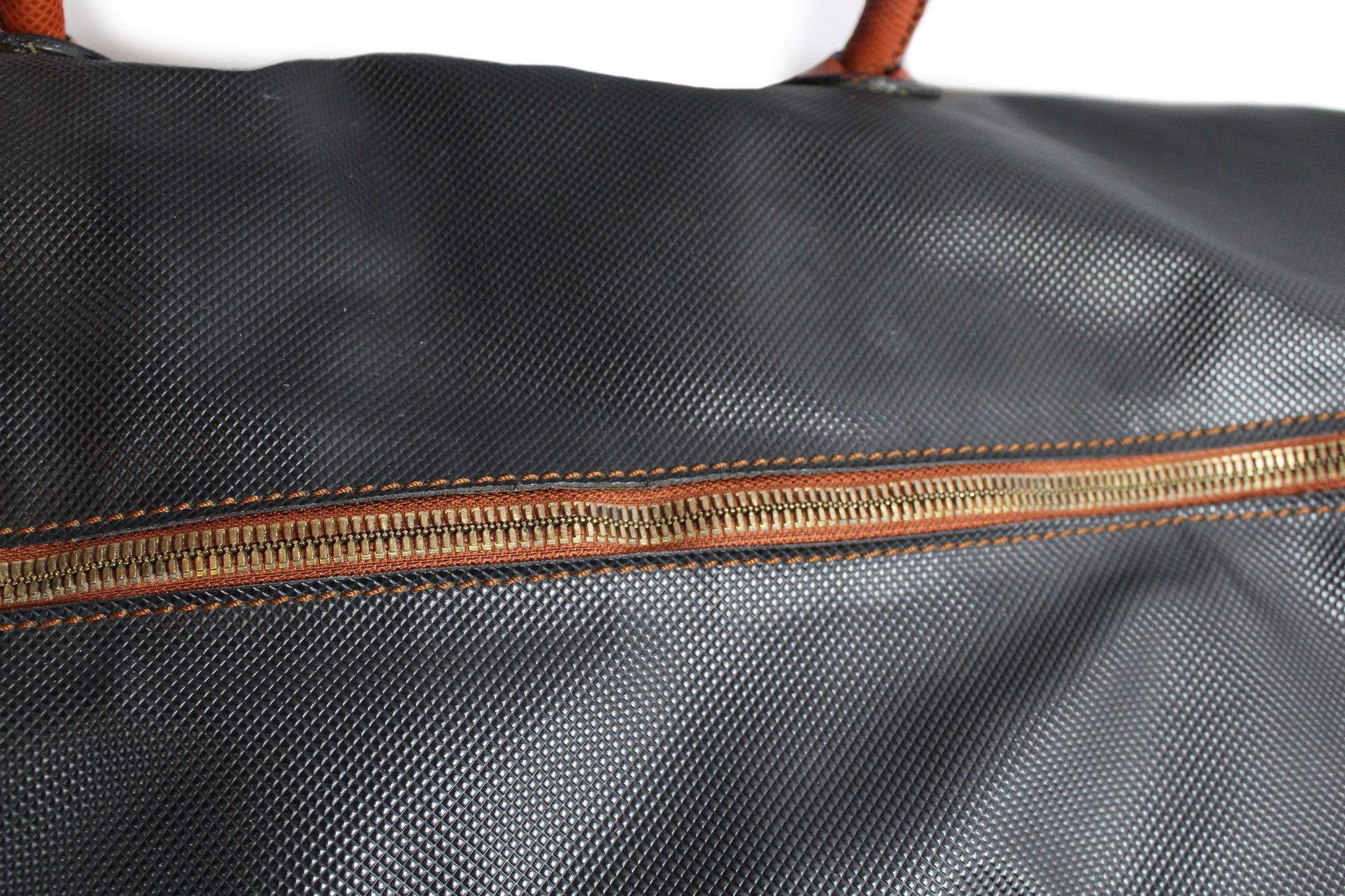 Bottega Veneta Black and Copper Leather Duffle Bag - Encore Consignment - 5