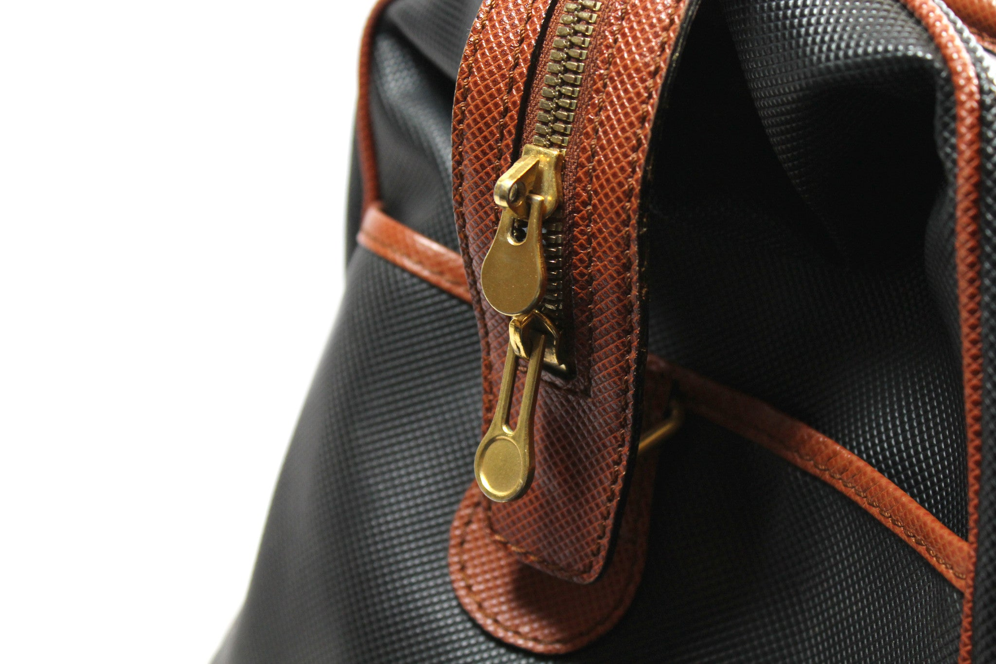 Bottega Veneta Black and Copper Leather Duffle Bag - Encore Consignment - 6