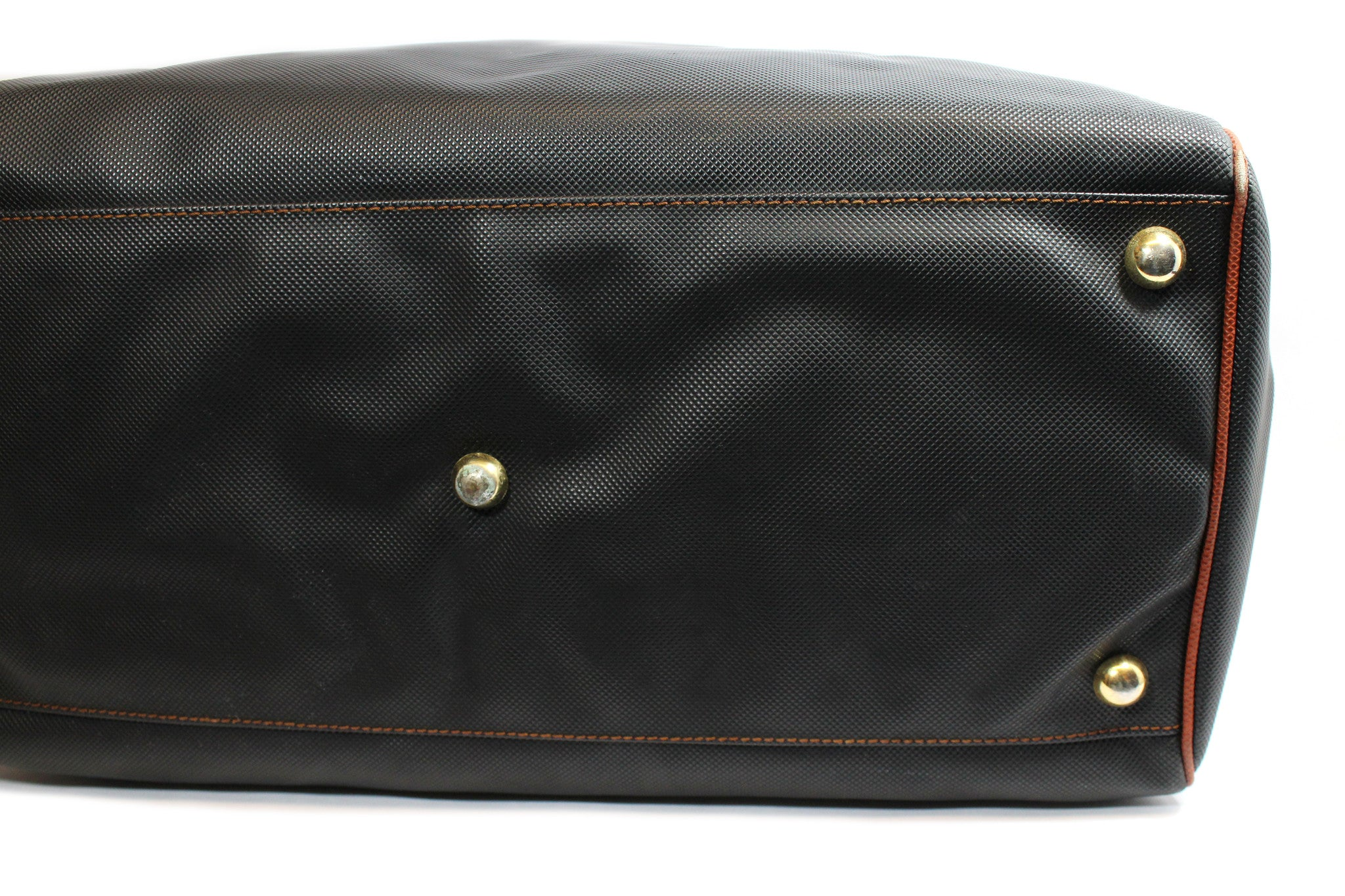 Bottega Veneta Black and Copper Leather Duffle Bag - Encore Consignment - 10