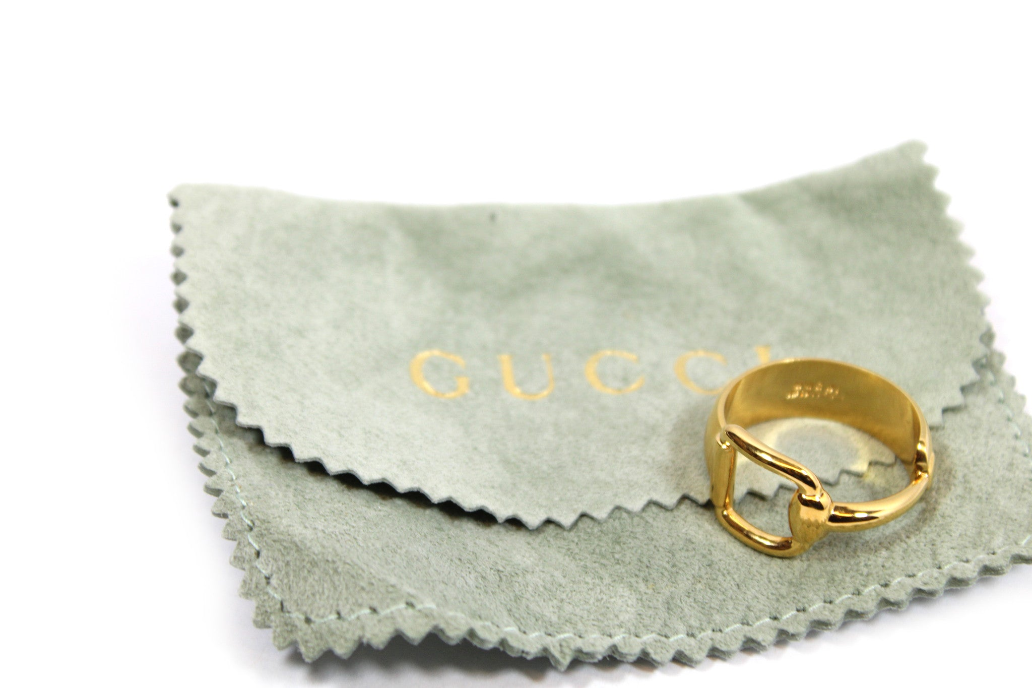 ~done~ Gucci Gold-tone Scarf Ring - Encore Consignment - 7