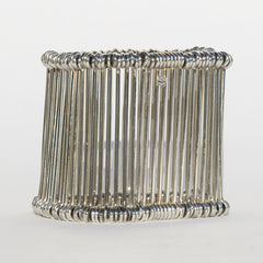 'Sold' LINKS OF LONDON Sterling Silver Sugar Cane Stretch Bangle Cage Bracelet Cuff GUC