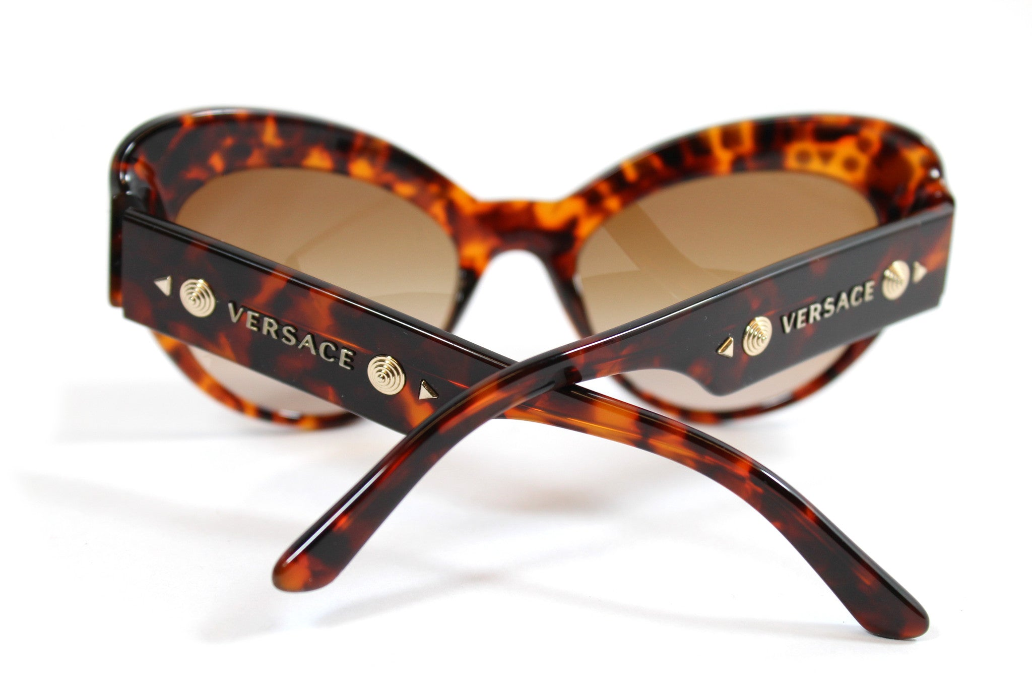 -done- Versace Round Tortoise Studded Glasses - Encore Consignment - 6