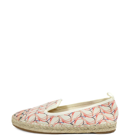 Fendi Printed Canvas and Leather Espadrilles (Size 36)
