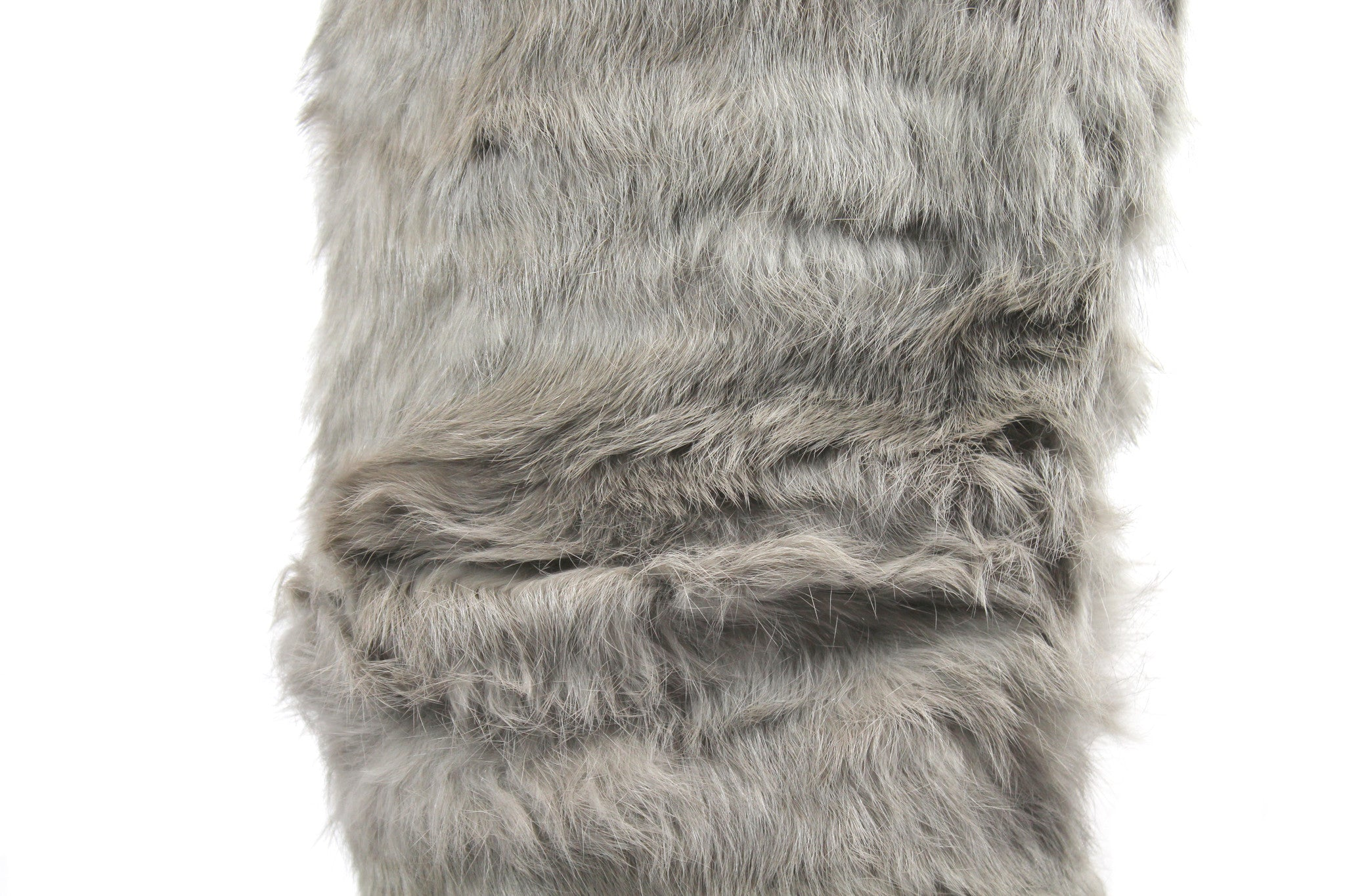 Michael Kors Taupe Leather 'Ezra' Boots w/ Removable Fur Shaft (Size 8.5M)