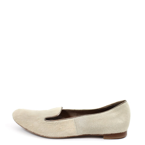 Barneys New York CO-OP Beige Calf Hair Loafers (Size 38.5)