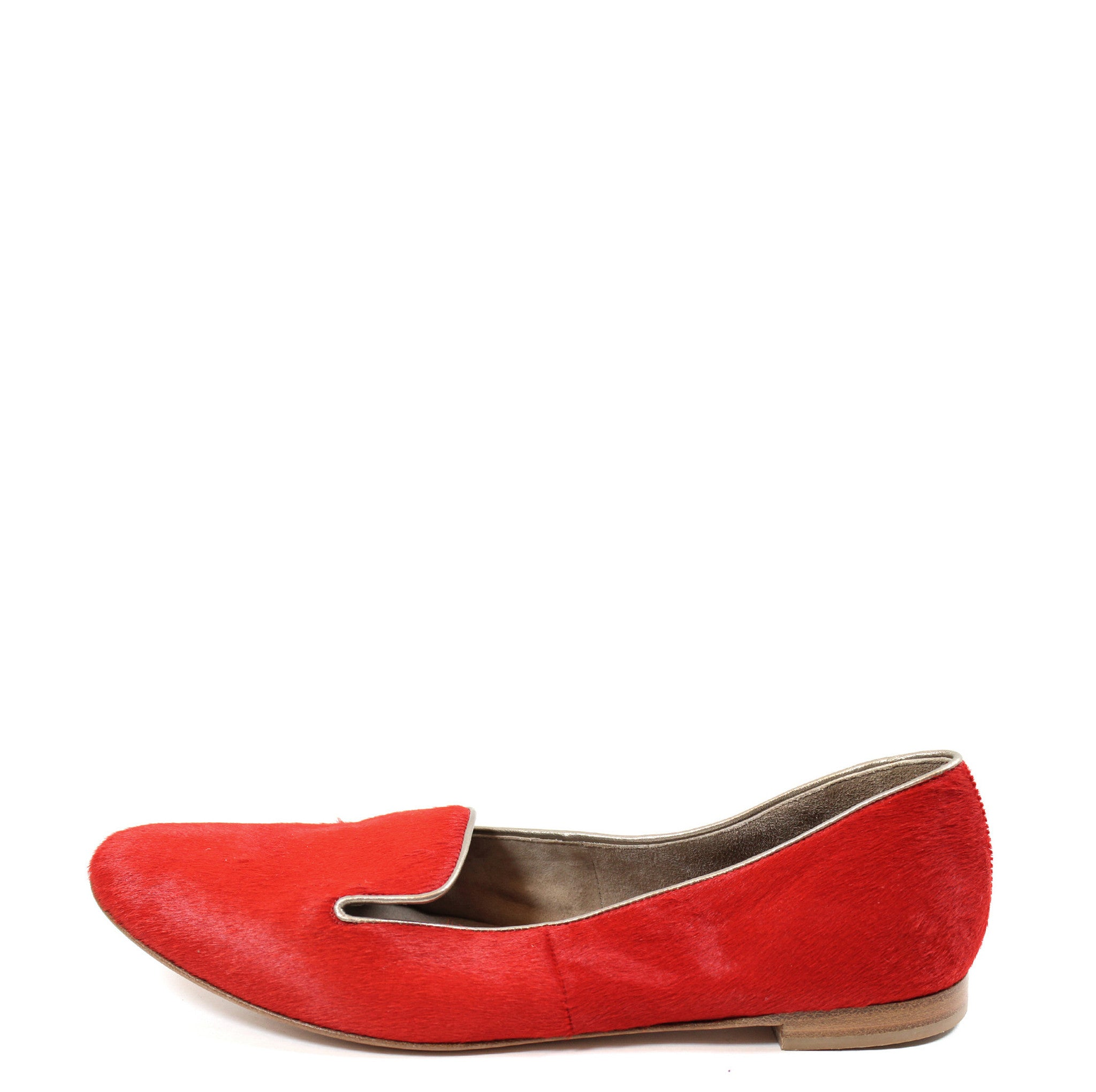 Barneys New York CO-OP Red Calf Hair Loafers (Size 38.5)