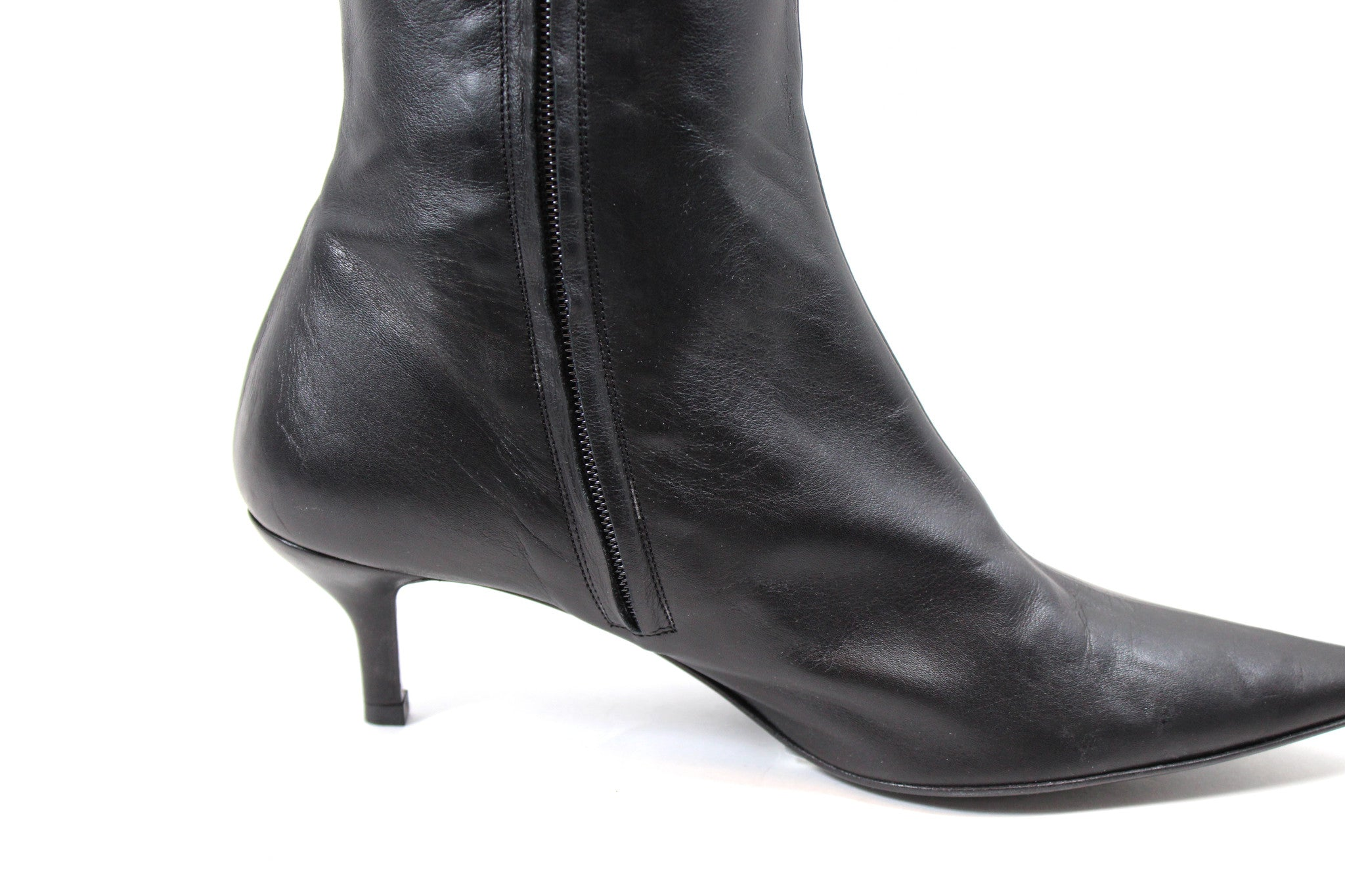 Max Mara Over-the-knee Leather Boots (Size 38.5)