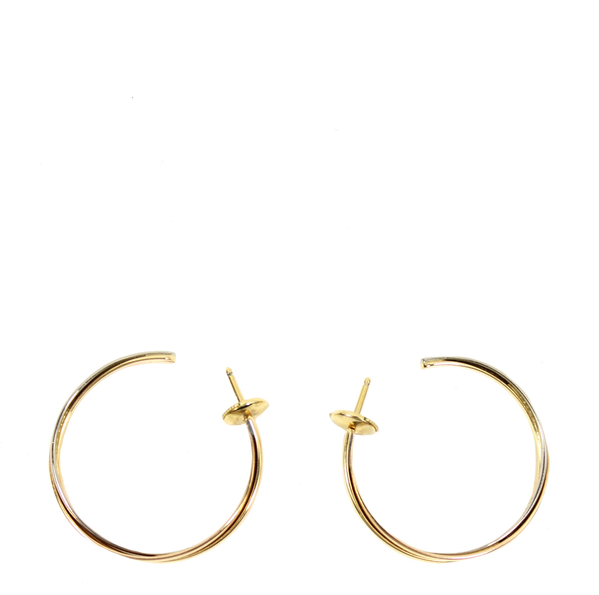 Cartier 'Trinity De Cartier' Hoop 18k Gold Earrings
