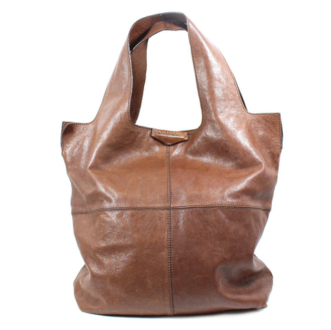 Givenchy Brown Leather 'George V' Hobo Bag