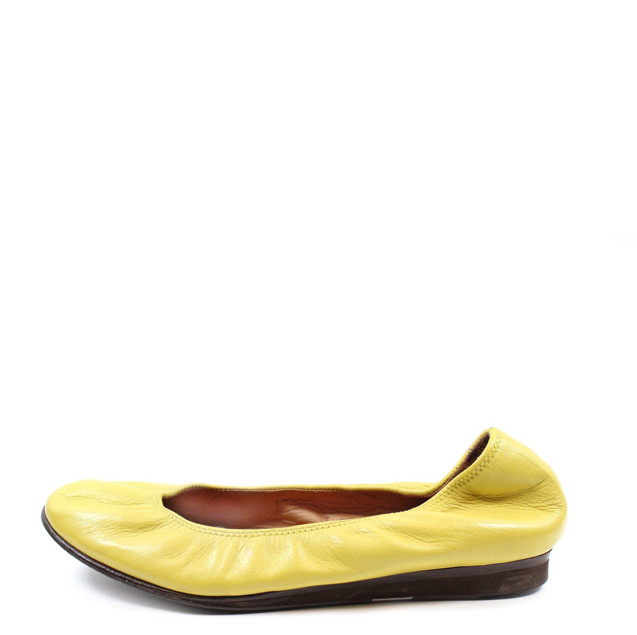 Lanvin Yellow 10mm Leather Ballet Flats (Size 39)