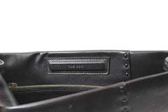 The Row Mono-block Smooth Leather Clutch