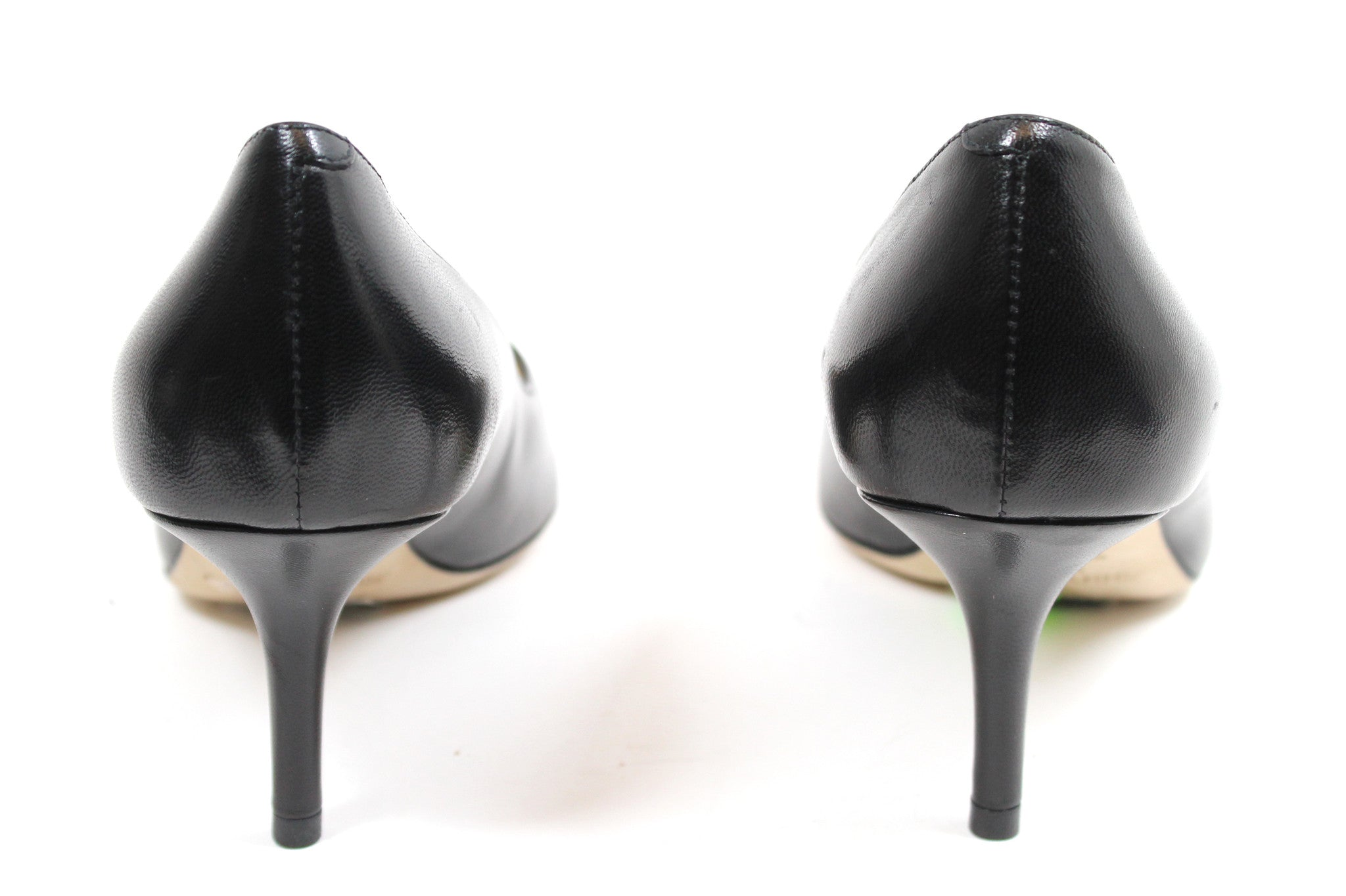 Jimmy Choo Black Leather Pumps (Size 36.5)