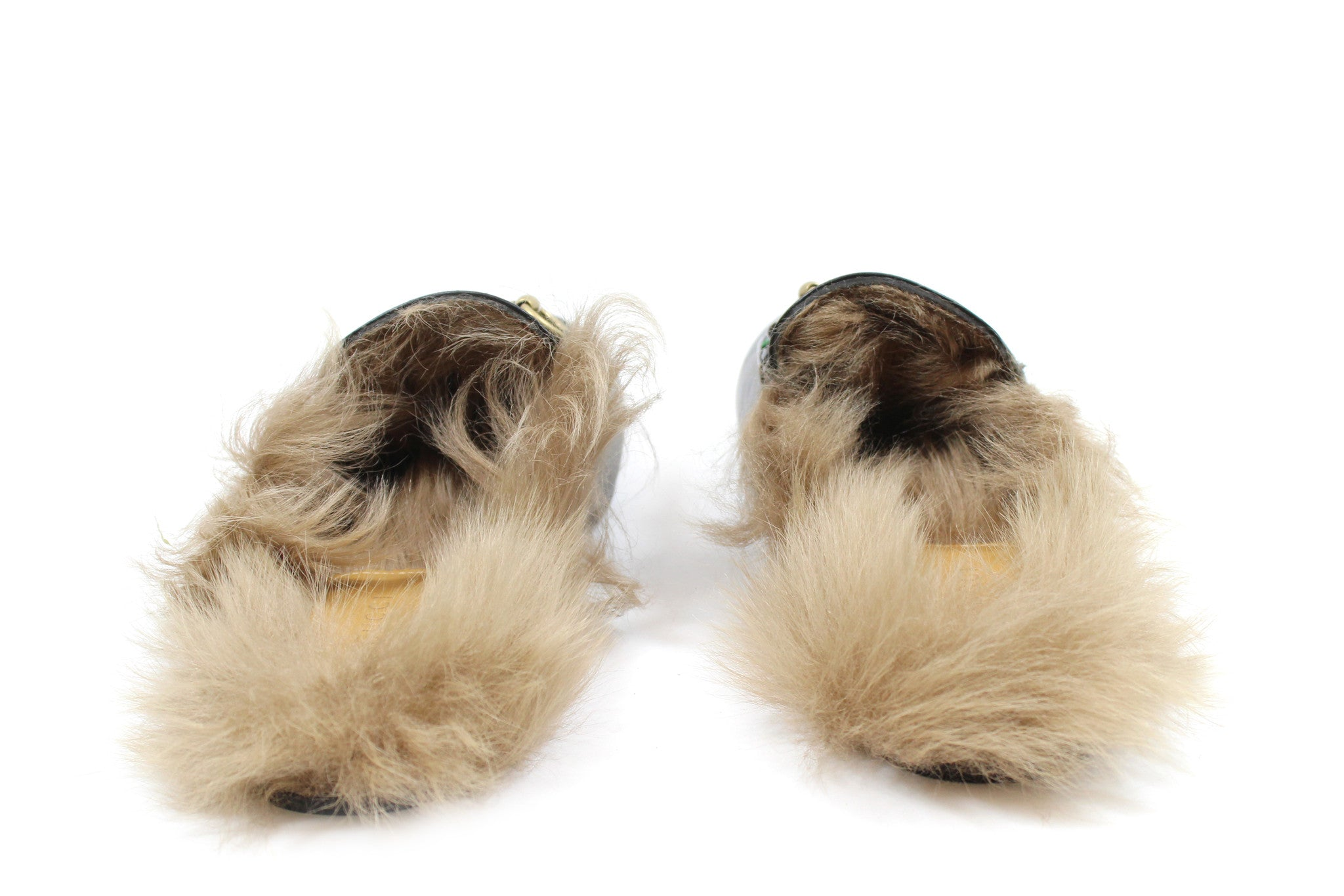 'Sold' Gucci 'Princetown' Fur Slide Loafers w/ Rose Embroidery (Size 38.5)
