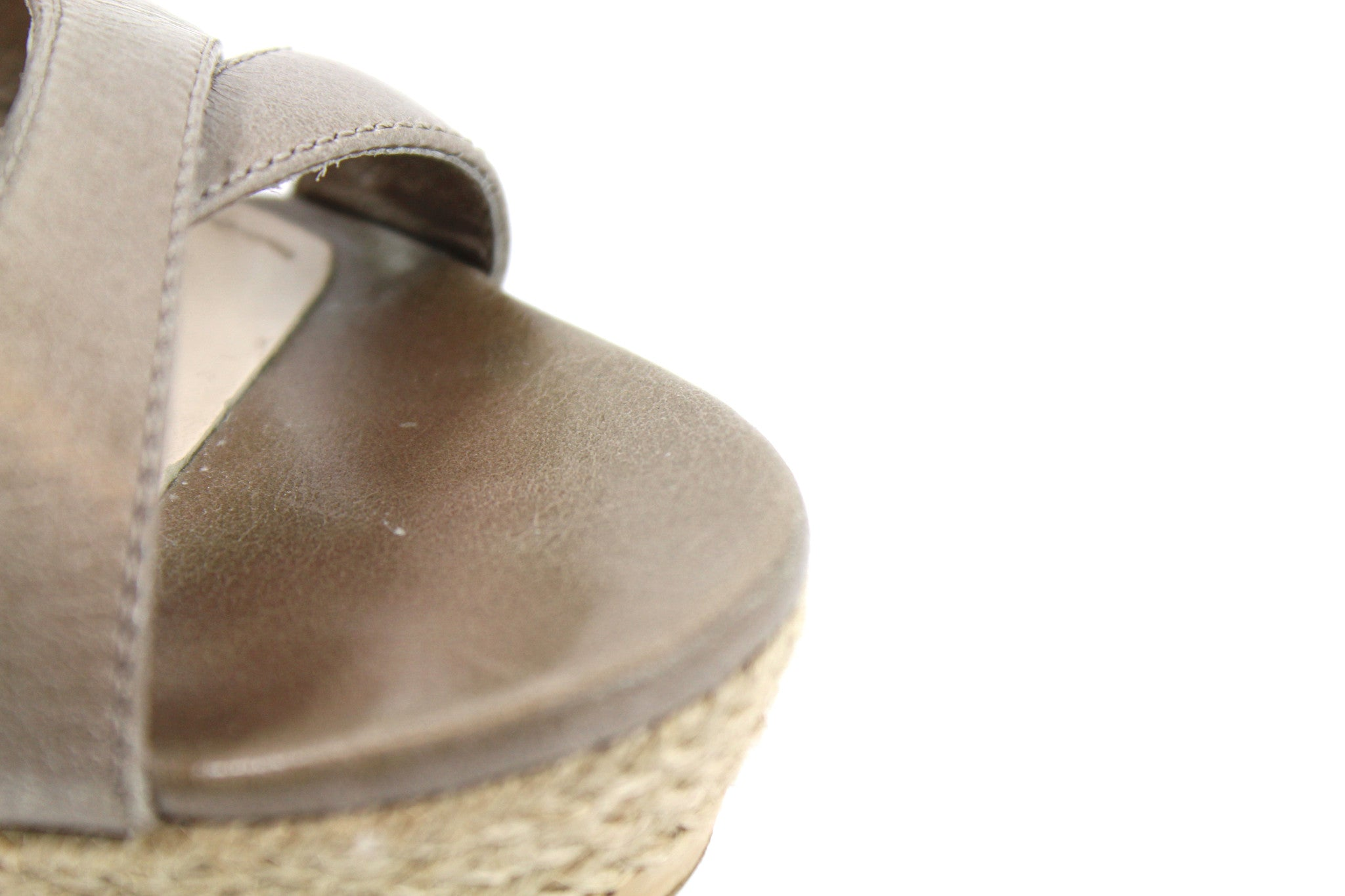 'SOLD' Prada Taupe Open Toe Sandals (Size 37)