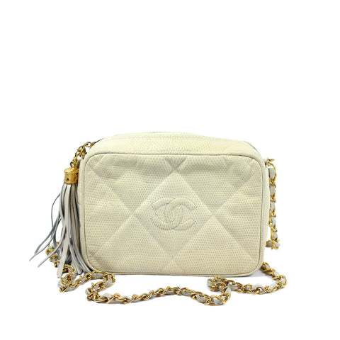 Chanel Beige Tassel Leather Bag - Encore Consignment - 1