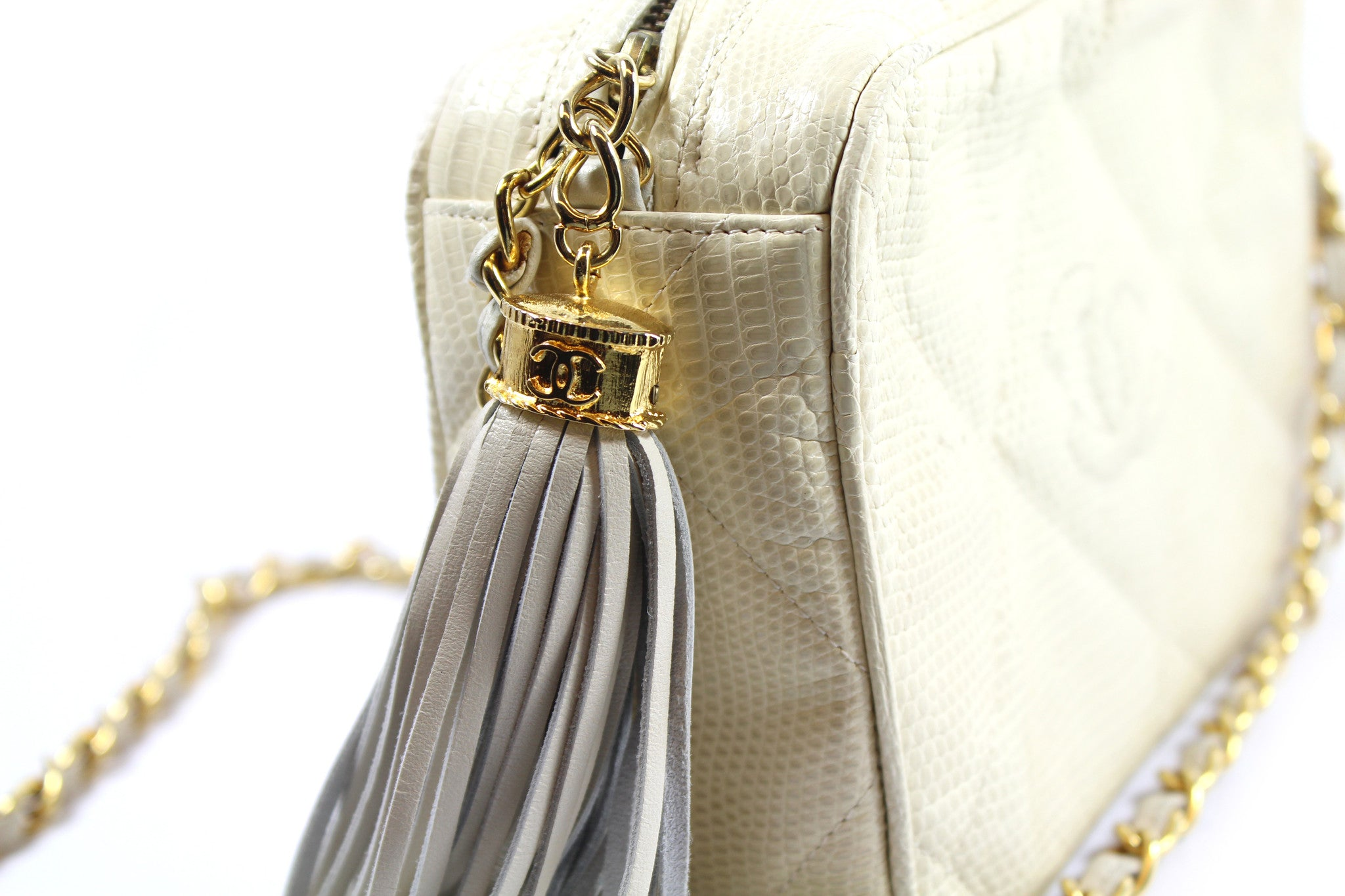 Chanel Beige Tassel Leather Bag - Encore Consignment - 3