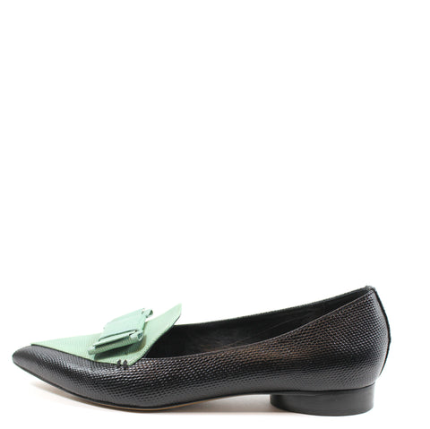 Nicholas Kirkwood for Erdem Embossed Leather Loafers (Size 38.5)
