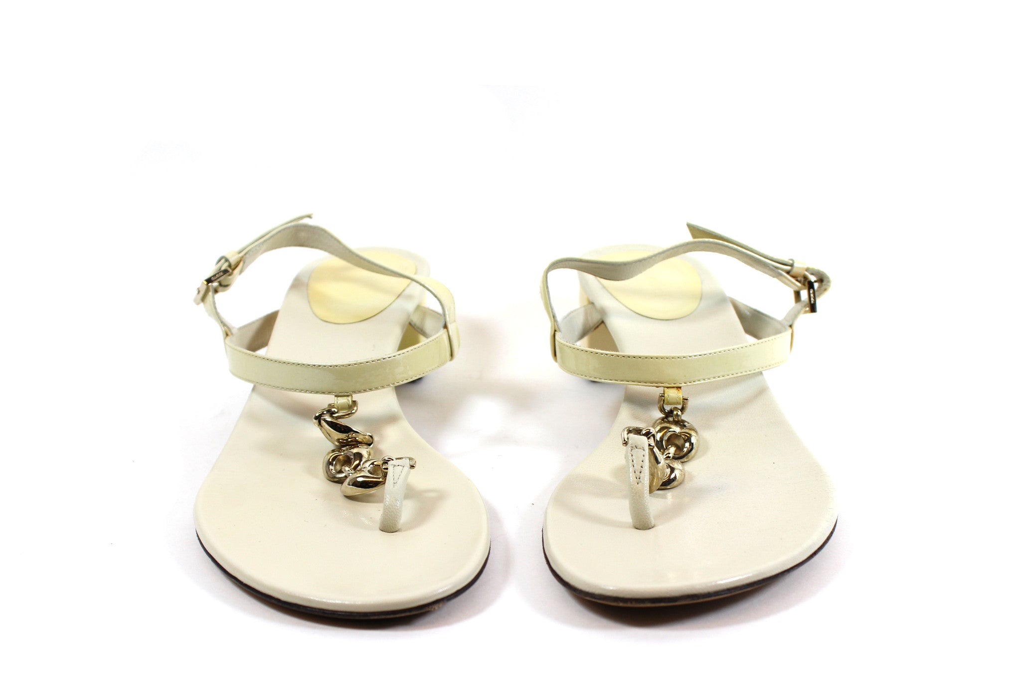 Gucci Cream Leather Sandals (Size 8)