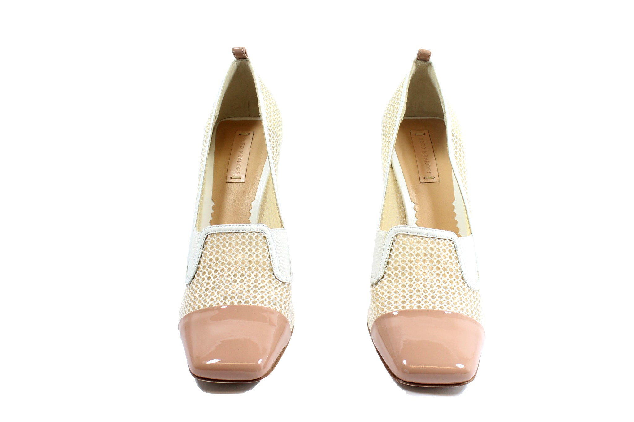 Reed Krakoff Mesh Atlas Nude and White Pumps (Size 38.5) - Encore Consignment - 4