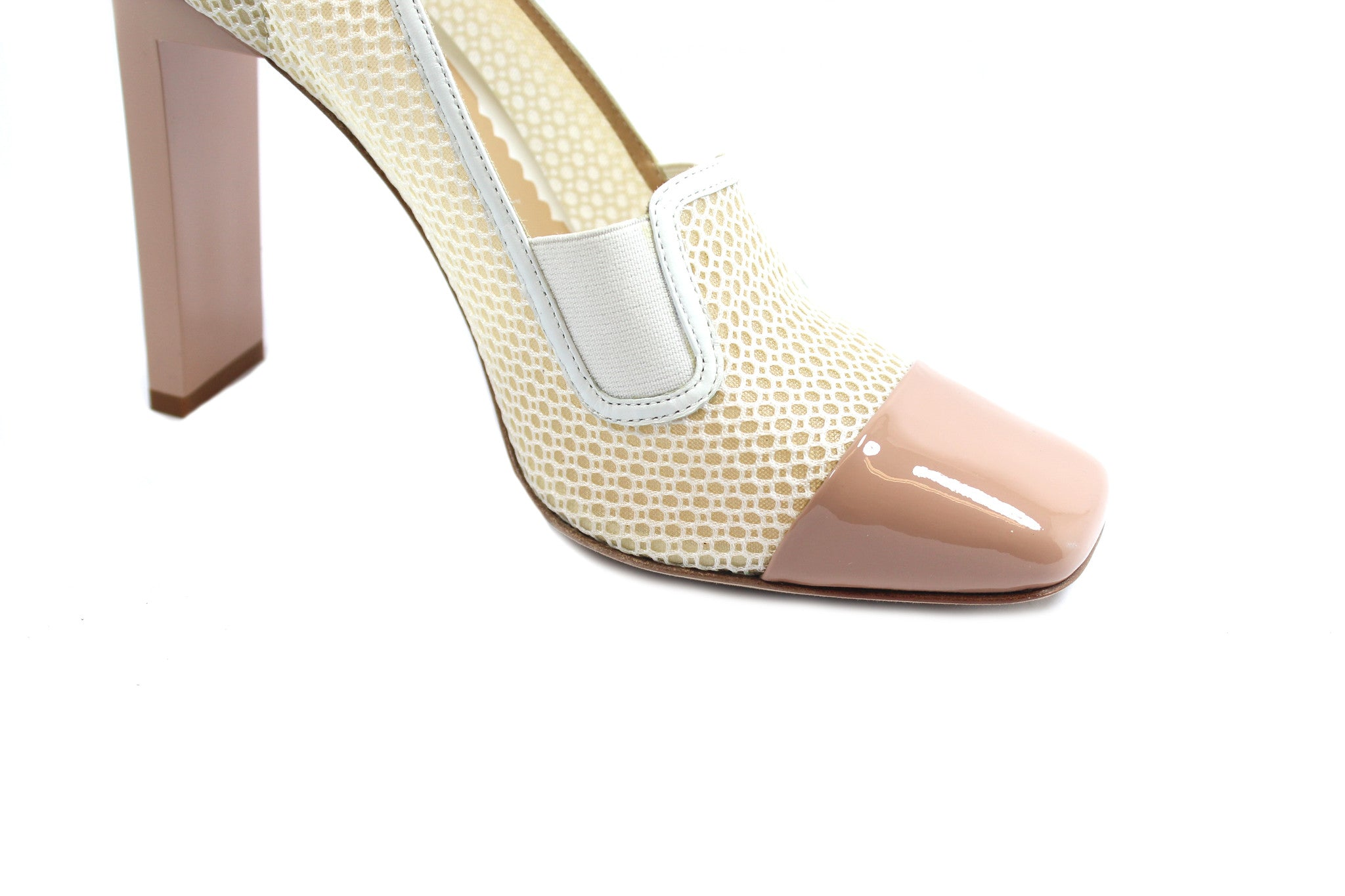 Reed Krakoff Mesh Atlas Nude and White Pumps (Size 38.5) - Encore Consignment - 8