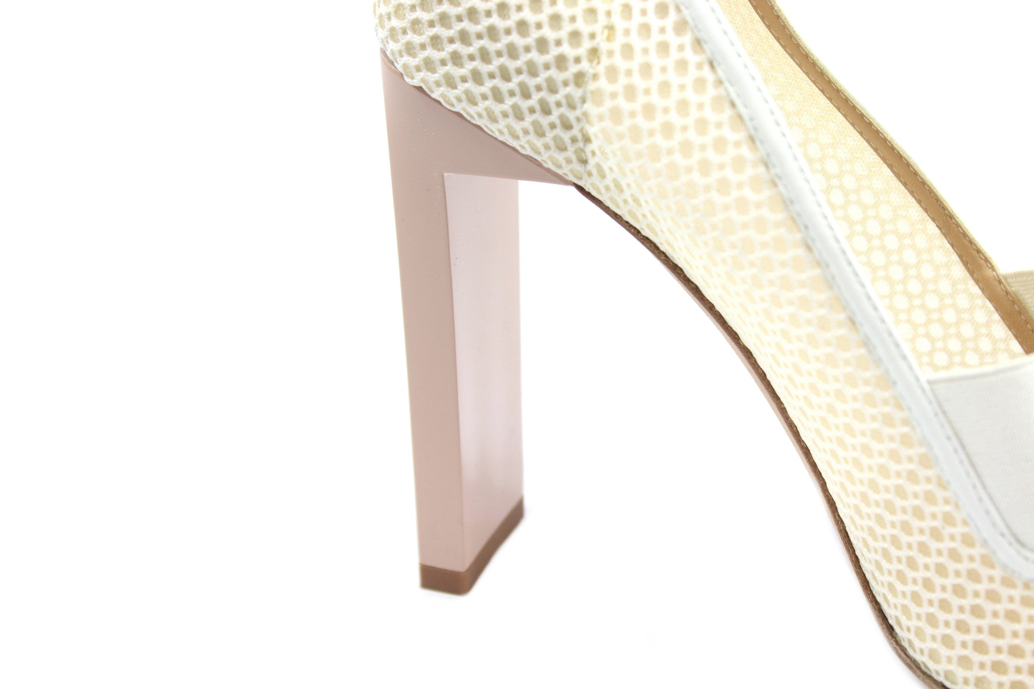 Reed Krakoff Mesh Atlas Nude and White Pumps (Size 38.5) - Encore Consignment - 9