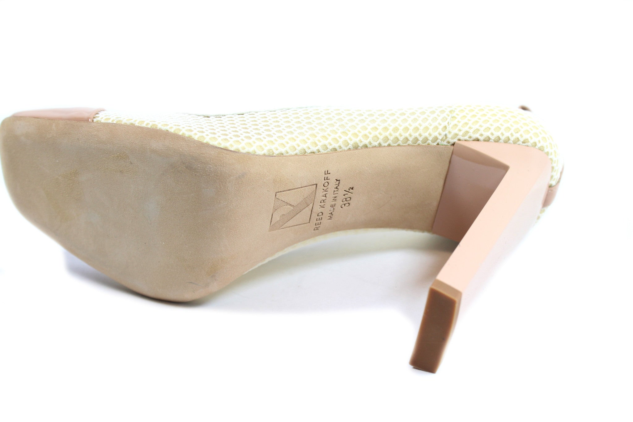 Reed Krakoff Mesh Atlas Nude and White Pumps (Size 38.5) - Encore Consignment - 11