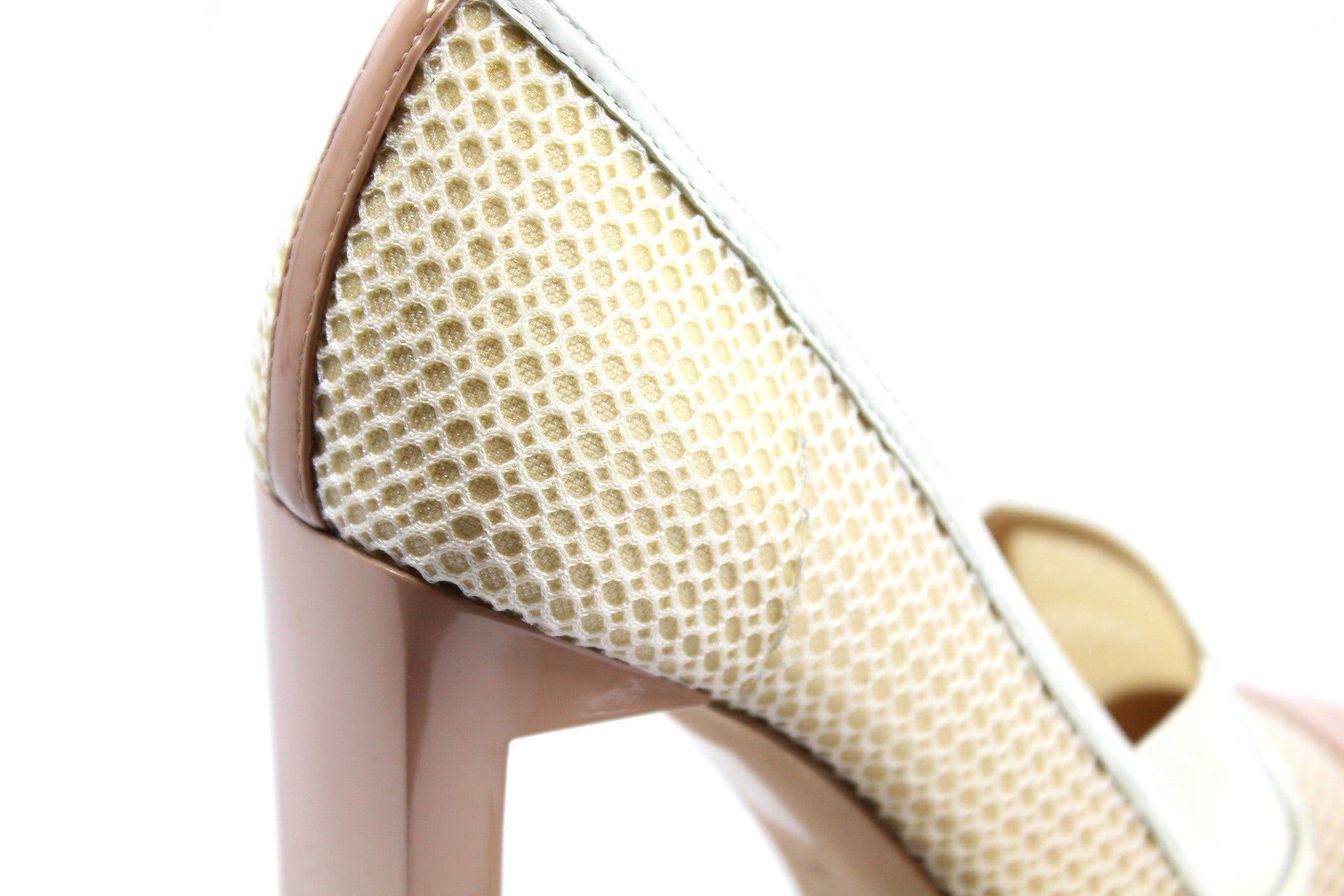 Reed Krakoff Mesh Atlas Nude and White Pumps (Size 38.5) - Encore Consignment - 10